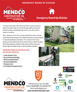 Mendco Construction - Emergency Board Up Division