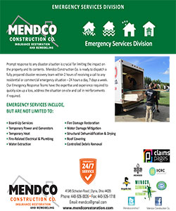 Mendco Construction -  Emergency Services Division