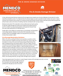 Mendco Construction - Fire & Smoke Damage Division