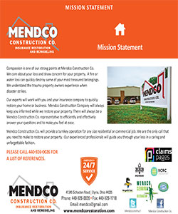 Mendco Construction - Mission Statement