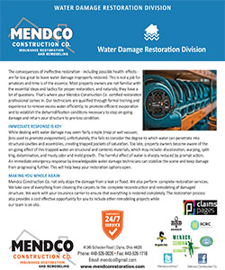 Mendco Construction - Water Damage Restoration Division