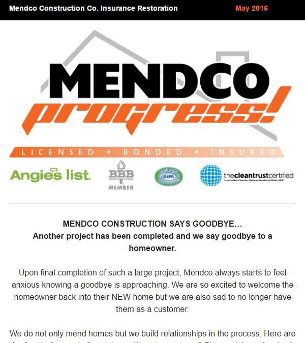 Mendco Construction Co. Progress Newsletter Issue 3