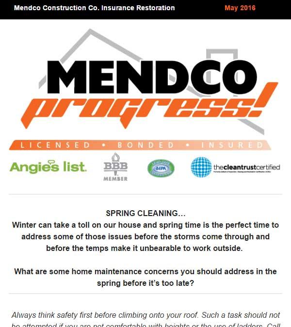 Mendco Construction Co. Progress Newsletter Issue 4