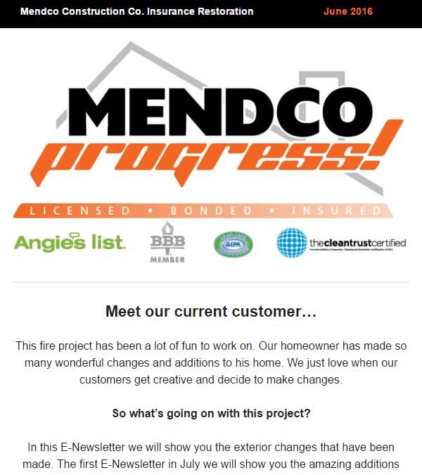 Mendco Construction Co. Progress Newsletter Issue 5