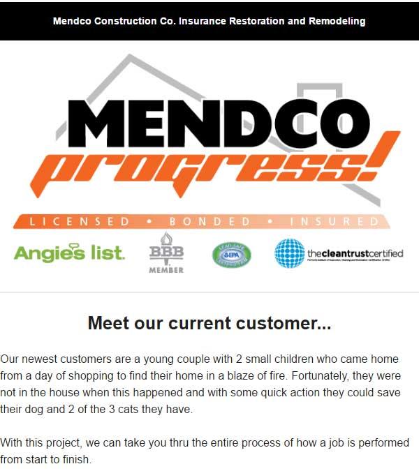 Mendco Construction Co. Progress Newsletter Issue 8